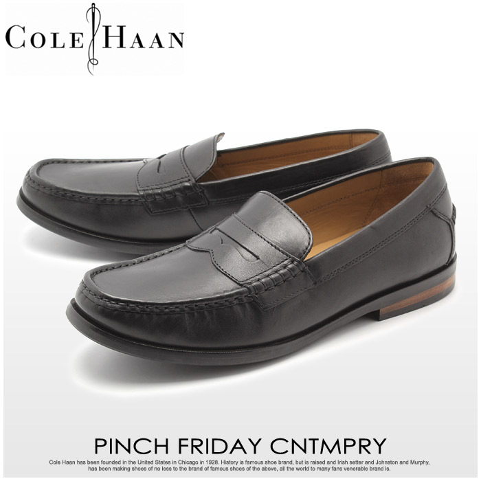 送料無料 コールハーン COLE HAAN ローファー ピンチ フライデー コンテンポラリー ブラック(COLE HAAN C23847 PINCH FRIDAY CNTMPRY)メンズ レザー ローファー 短靴 カジュアル シューズ 黒