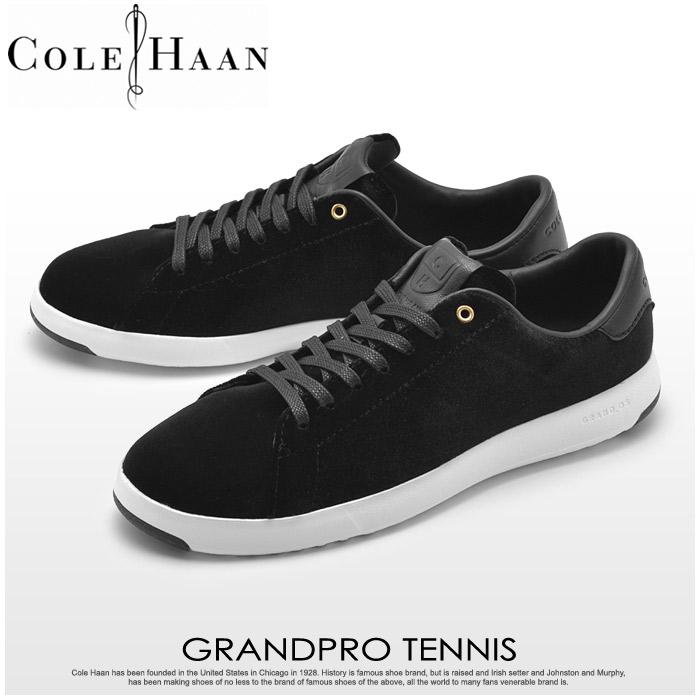 送料無料 コールハーン COLE HAAN スニーカー グランドプロ テニス ブラックベルベット(COLE HAAN GRANDPRO TENNIS W08155)レディース靴 シューズ カジュアル 黒