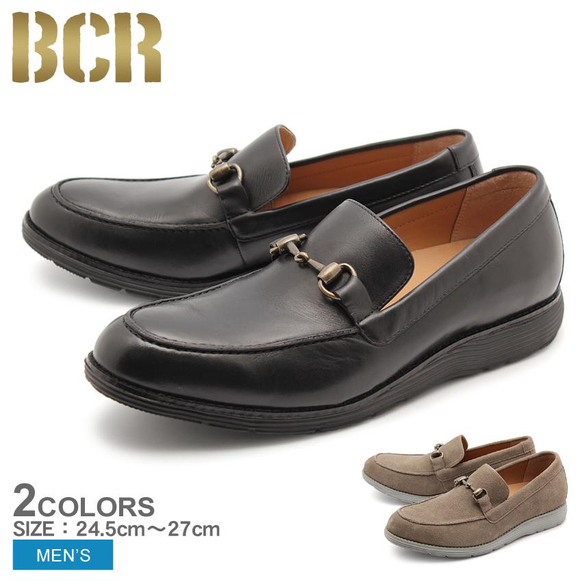 送料無料 ビットローファー 本革 レザー シューズ ビーシーアール BCR 全2色 (BCR BC822)靴 メンズ(男性用)