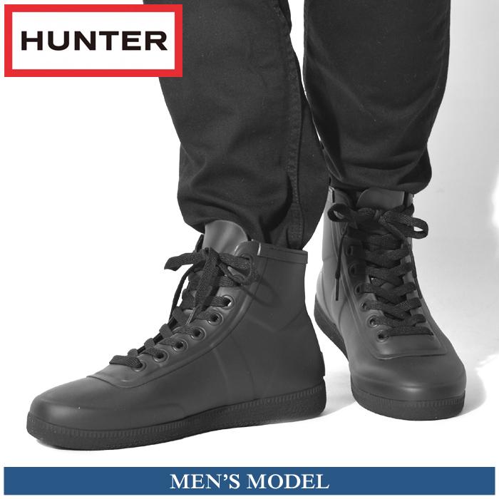 送料無料 ハンター HUNTER レインシューズ メンズ オリジナル スニーカー ハイラバー(HUNTER MFK9005RMA ORIGINAL SNEAKER HI-RUBBER) メンズ(男性用) シューズ ハンター 防水 耐水 マットラバー ハイカット