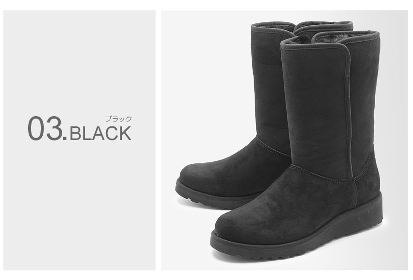 21ccc66bf1a All three colors (UGG AUSTRALIA AMIE 1013428 GREY CHE BLK) of アグオーストラリア UGG  mouton boots net black et al. black winter winter cold ...