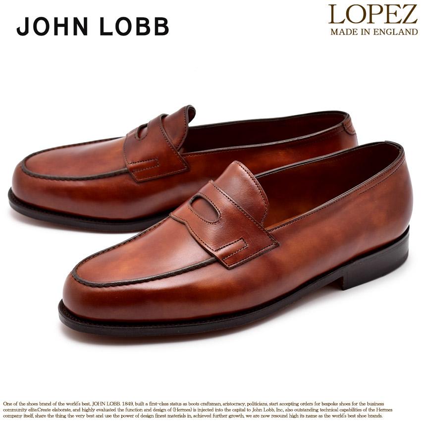 送料無料 JOHN LOBB ジョンロブ ローファー ブラウンロペス LOPEZ309151L 1V メンズ