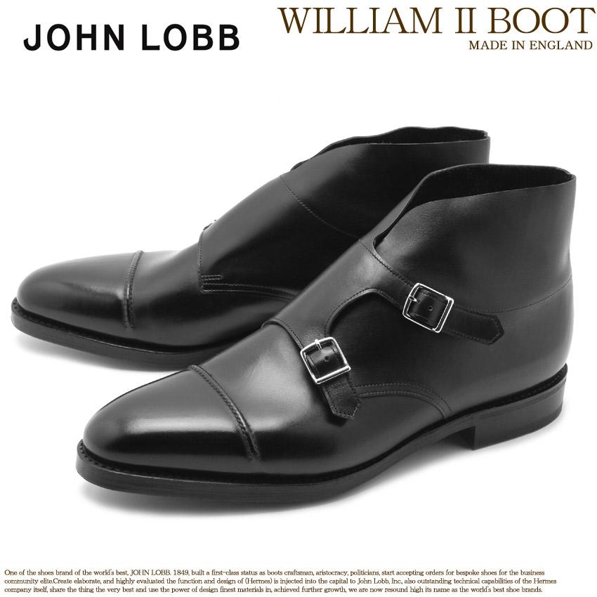 送料無料 JOHN LOBB ジョンロブ ドレスブーツ ブラック ウィリアム 2 ブーツ WILLIAM II BOOT 43604LL 1R メンズ アンクルブーツ ショートブーツ ブランド フォーマル カジュアル ビジネス ベルト オフィス スーツ レザー 紳士靴 革 定番 革靴 黒