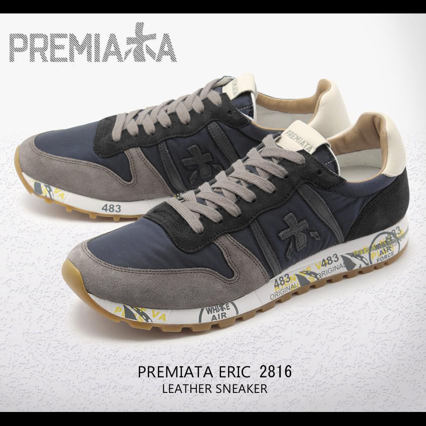 送料無料 PREMIATA プレミアータ スニーカー ネイビーエリック 2816 ERICVAR2816 メンズ