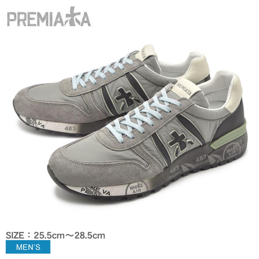 送料無料 PREMIATA プレミアータ スニーカー グレー ランダー3245 LANDER3245 VAR3245 メンズ