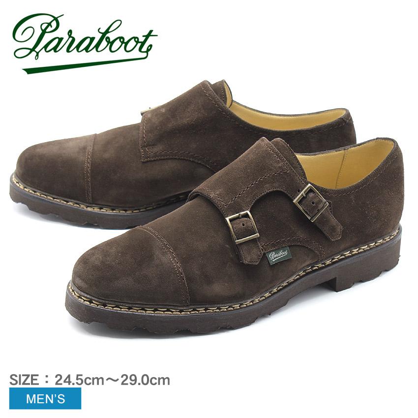 送料無料 PARABOOT パラブーツ レザーシューズ ブラウン ウィリアム WILLAM MARCHE II 9814 メンズ 靴 シューズ 紳士靴 短靴 本革 レザー ダブルモンク ストラップシューズ スエード カジュアル ビジネス