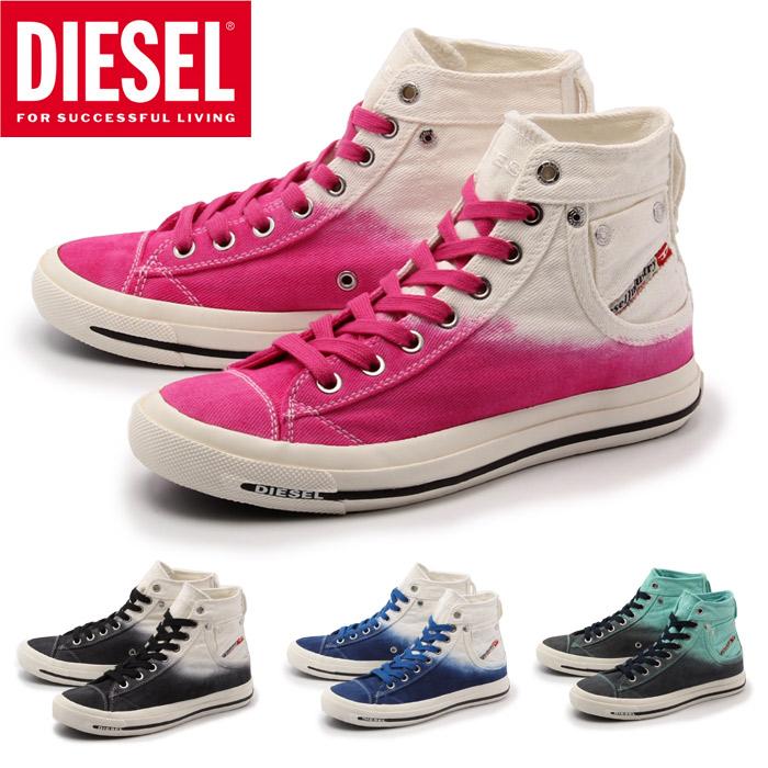 柴油(DIESEL)運動鞋暴露4全四色婦女(Y00638-P0271-H1532 H1649 H5267 H5268 EXPOSURE 4 W)女子的(女性用)高cut休閒鞋方式休閒