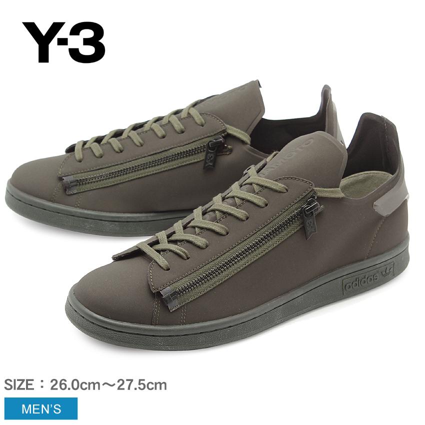 送料無料 アディダス Y-3 ADIDAS スニーカー メンズ シューズ スタン ジップ オリーブ ブラック Y-3 STAN ZIP CG3208 靴 カジュアル YOHJI YAMAMOTO ヨウジヤマモト 緑 メンズ
