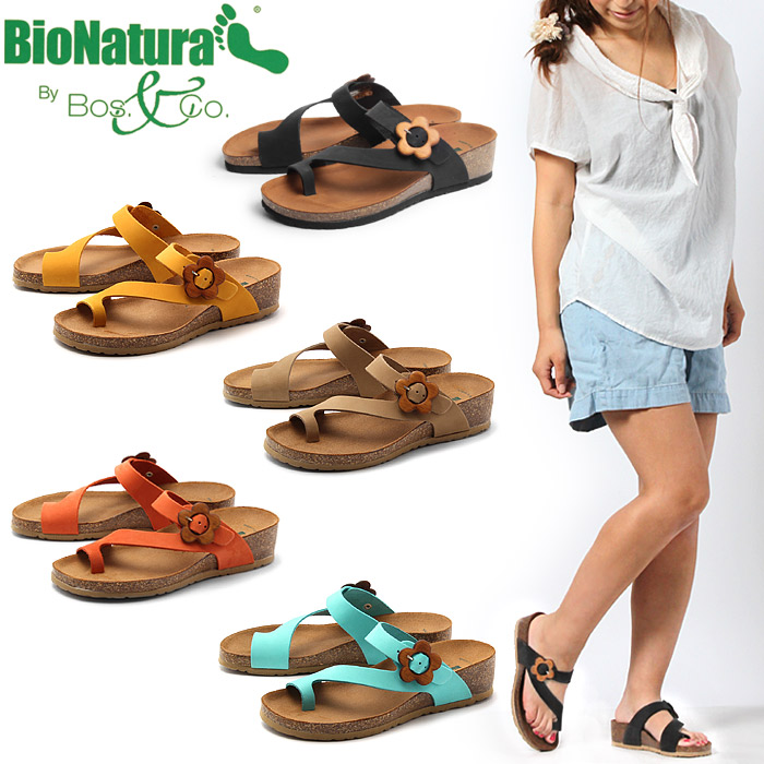Bionatura BIO NATURA Sandals Napoli 5 colors (BIO NATURA NAPLES) women's (women's) MADE IN ITALY made in Italy tongs leather leather natural leather Cork sole casual