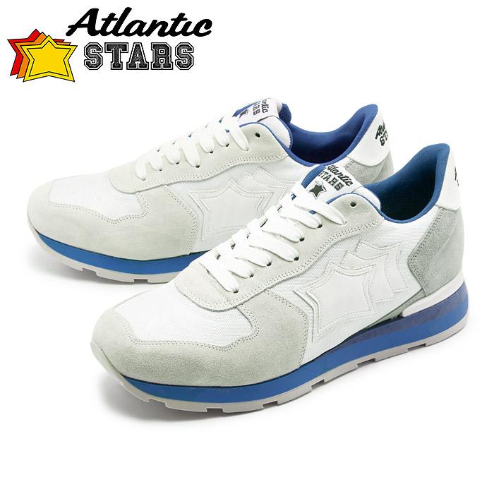 送料無料 アトランティックスターズ ATLANTIC STARS スニーカー アンタレス グレー×ホワイトANTARES BCA-83B靴 シューズ カジュアル メンズ 白 青