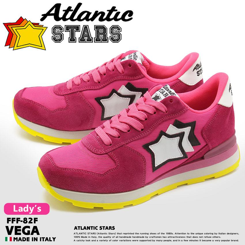 送料無料 ATLANTIC STARS アトランティックスターズ スニーカー ピンクベガ VEGAFFF-82F レディース
