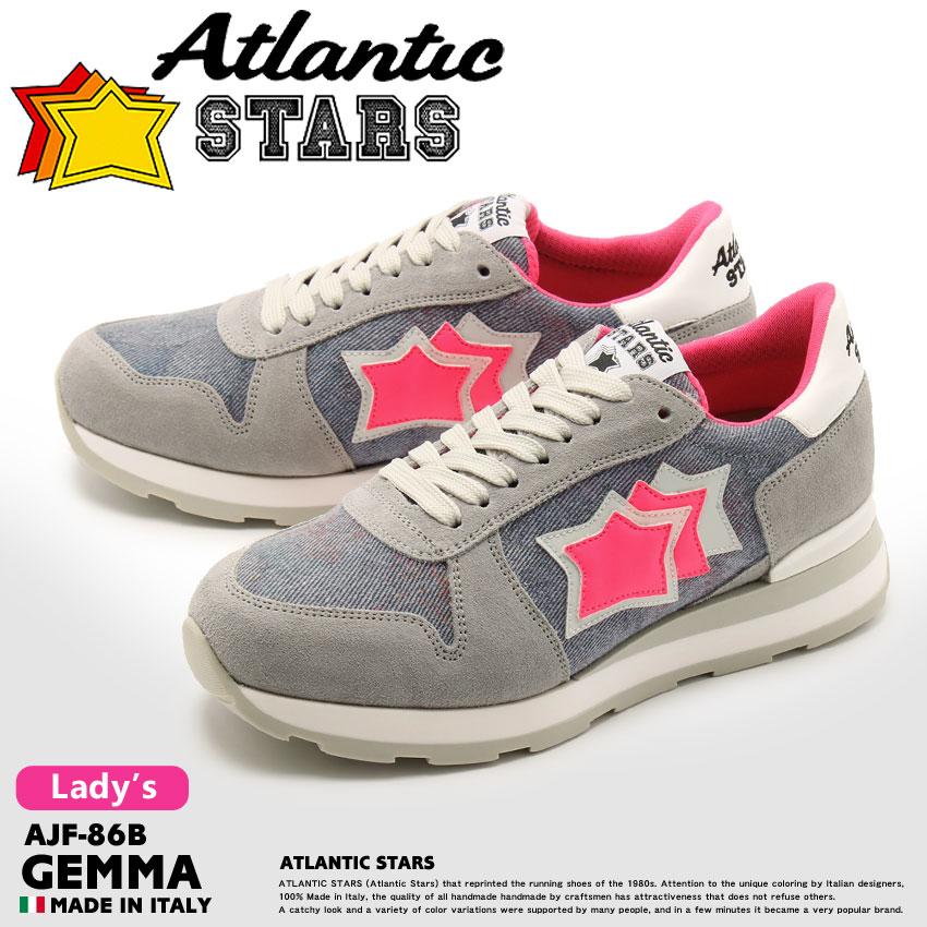 送料無料 ATLANTIC STARS アトランティックスターズ スニーカー グレーゲンマ GEMMAAJF-86B レディース