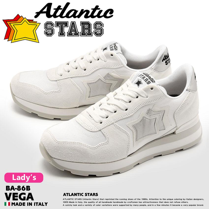 送料無料 ATLANTIC STARS アトランティックスターズ スニーカー ホワイトベガ VEGABA-86B レディース