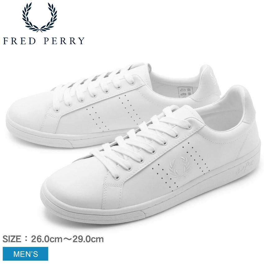 送料無料 FREDPERRY フレッドペリー スニーカー ホワイト B721 レザー B721 LEATHER B7211U 646 メンズ ブランド カジュアル シューズ レザー レースアップ テニスシューズ コートシューズ 本革 皮革 靴 定番 白