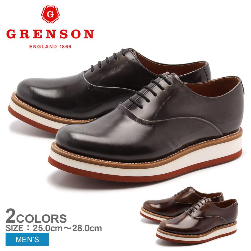 送料無料 グレンソン GRENSON サミー グレー キャラメル 全2色 GRENSON 5284-12 5284-13 SAMMY メンズ(男性用) 短靴 プレーントゥ レザーシューズ