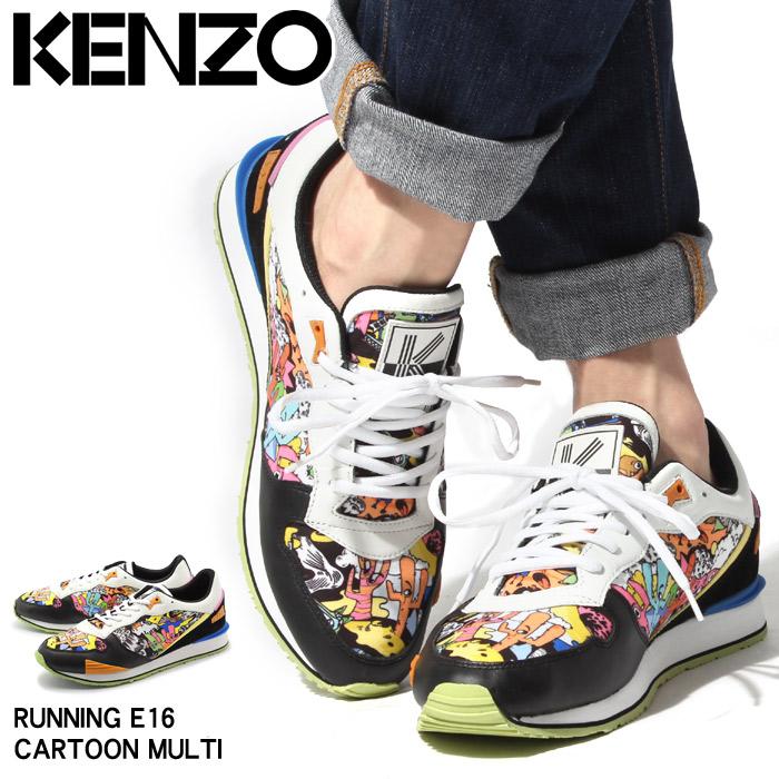 送料無料 ケンゾー KENZO ランニング E16 カートゥーンマルチ スニーカー M42467 E16(KENZO RUNNING E16 CARTOON MALTI) メンズ(男性用) レザー ローカット 靴 シューズ