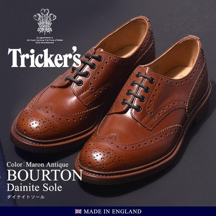 送料無料 トリッカーズ TRICKER'S バートン マロンアンティーク ダイナイトソール TRICKERS (TRICKER'S 5633 39 COUNTRY BOURTON) メンズ(男性用)