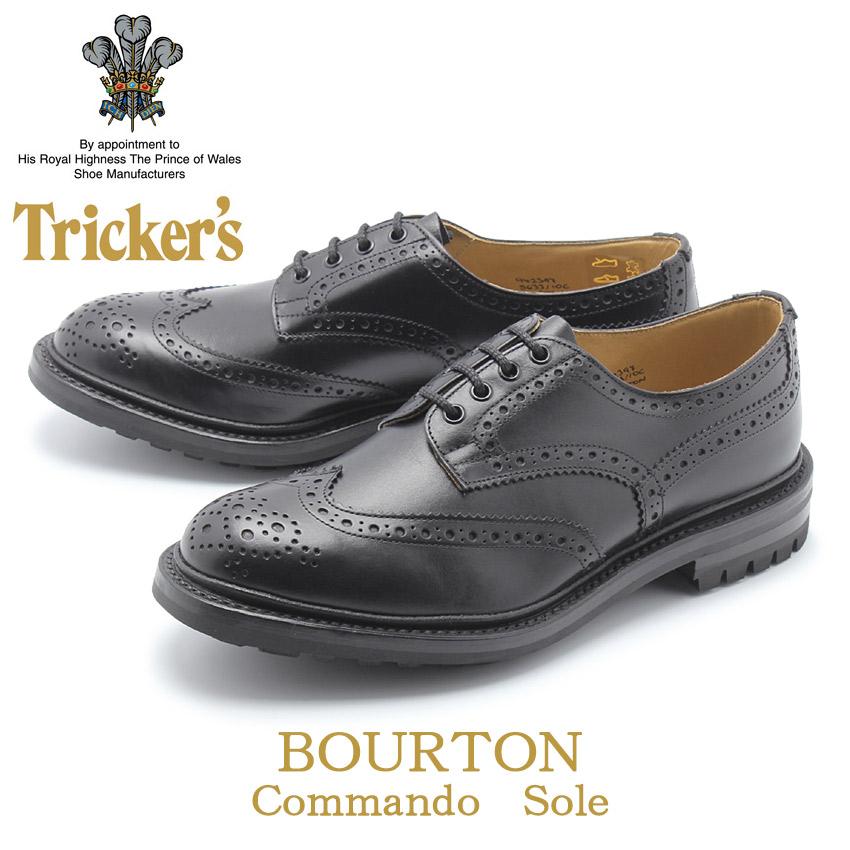 送料無料 TRICKER'S トリッカーズ カジュアルシューズ ブラックバートン BOURTON5633/10C メンズ コマンドソール