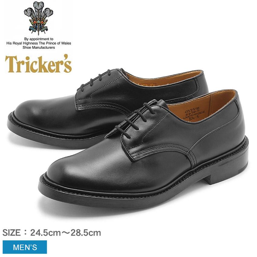 送料無料 トリッカーズ(TRICKER'S)(TRICKERS) ウッドストック ダブルレザーソール ブラックカーフ (TRICKER'S 5636 1 COUNTRY WOODSTOCK) カジュアルシューズ 革靴 メンズ(男性用)