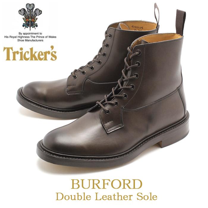 送料無料 トリッカーズ(TRICKER'S)(TRICKERS) バーフォード ダブルレザーソール エスプレッソバーニッシュ(TRICKER'S 5635 COUNTRY BURFORD) カントリー ブーツ メンズ(男性用)