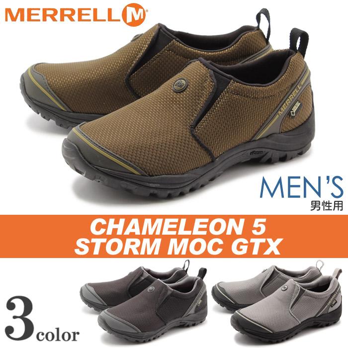 送料無料 メレル MERRELL カメレオン 5 ストーム モック ゴアテックス 全3色(J24431 J24433 J24435 CHAMELEON 5 STORM MOC GORE-TEX GTX)メンズ(男性用) アウトドア シューズ スニーカー スリッポン