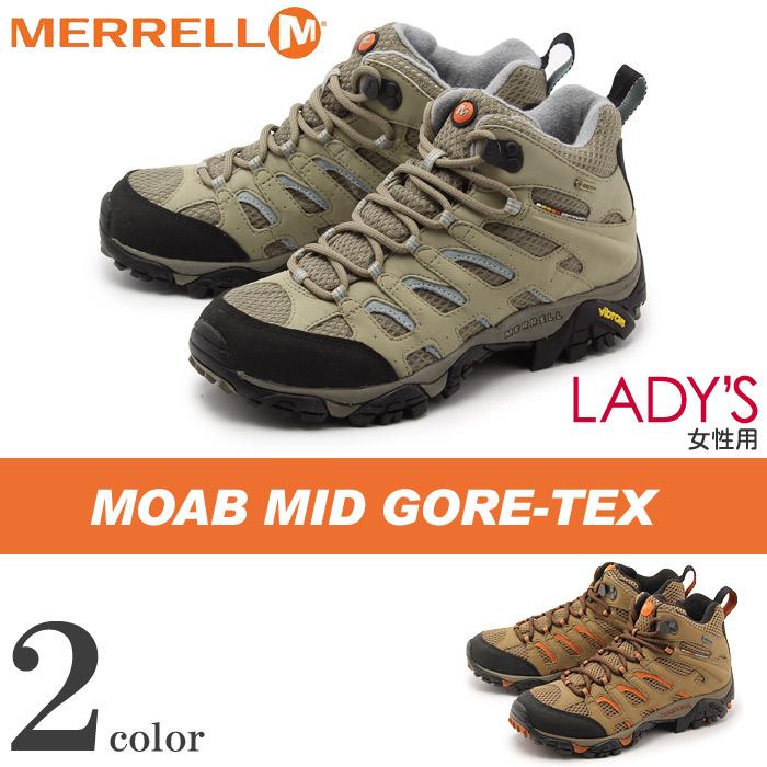 送料無料 メレル MERRELL モアブ ミッド ゴアテックス 全2色merrell J87318 J57762 MOAB MID GORE TEXアウトドア シューズ 天然皮革 本革レディース(女性用)