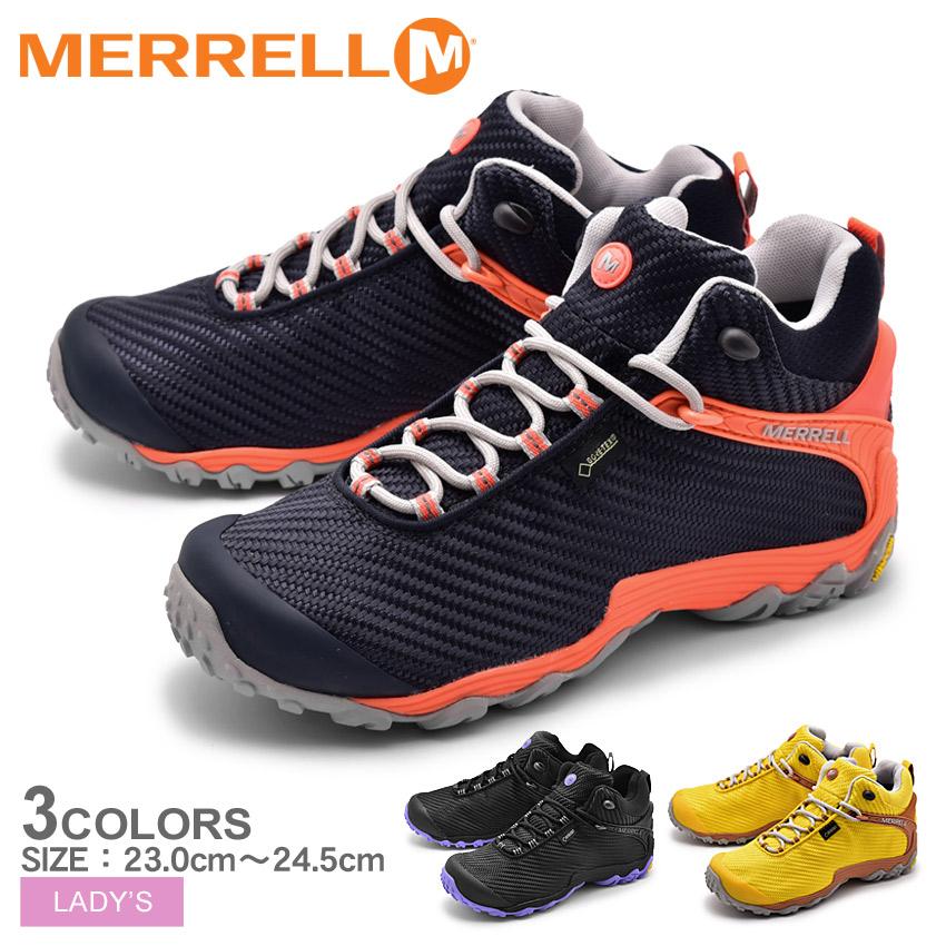 送料無料 MERRELL メレル トレッキングシューズ 全3色カメレオン7 ストーム ミッド ゴアテックス CHAMELEON7 STORM MID GORE-TEXJ38558 J31120 J38560 レディース
