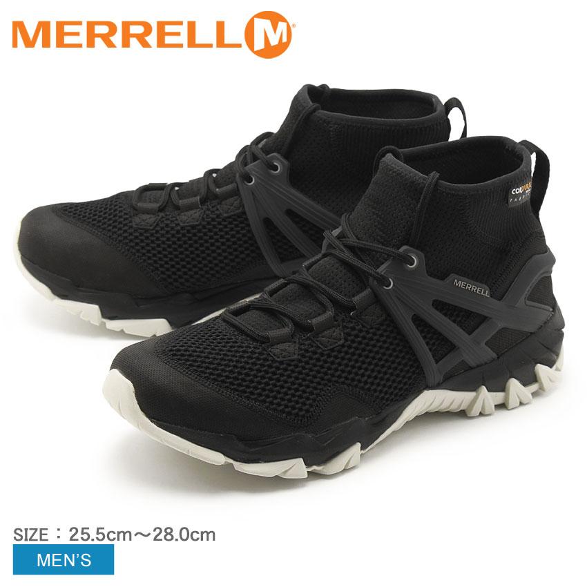 送料無料 MERRELL メレル トレッキングシューズ ブラックMQM ラッシュ フレックス MQM RUSH FLEXJ42549 メンズ