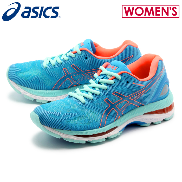 half off a08dc 6fe21 ASICS Asics running shoes lady gel nimbus 19 blue X flash Coral (LADY  GEL-NIMBUS TJG513 4306) sports training running sneakers Lady's (for the  woman) ...