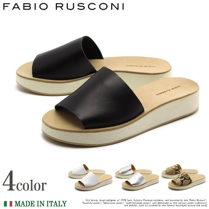 【特別奉仕品】 返品不可 送料無料 ファビオルスコーニ サンダル DE72 全4色(FABIO RUSCONI RB MODA DE72)レディース(女性用) 天然皮革 本革 オープントゥ 靴 インポート イタリア