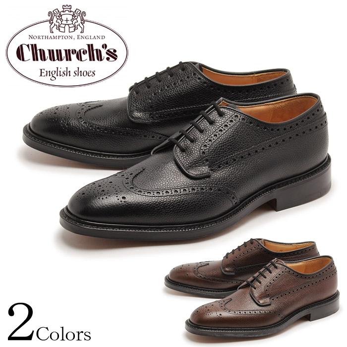 送料無料 チャーチ グラフトン 173 CHURCHS GRAFTON 173 ウイングチップ シューズ ブラック エボニー 全2色 CHURCH'S 7869-74 7869-98 BLACK EBONY メンズ 短靴 靴 シボ革 レザーソール 紳士靴 ドレスシューズ