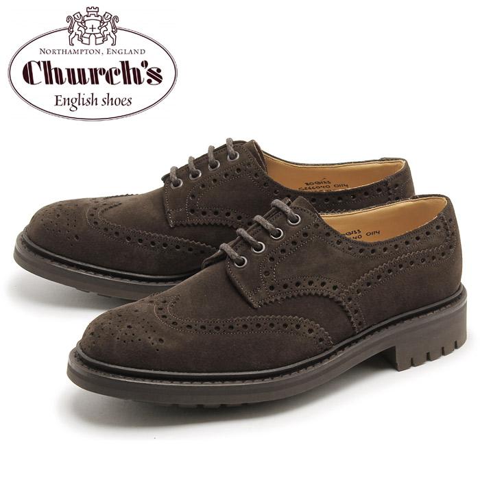 送料無料 チャーチ マクファーソン CHURCHS MCPHERSON スエード ウイングチップ シューズ ブラウン CHURCH'S 6800-90 BROWN メンズ(男性用) 短靴 靴 コマンドソール 紳士靴 カジュアルシューズ