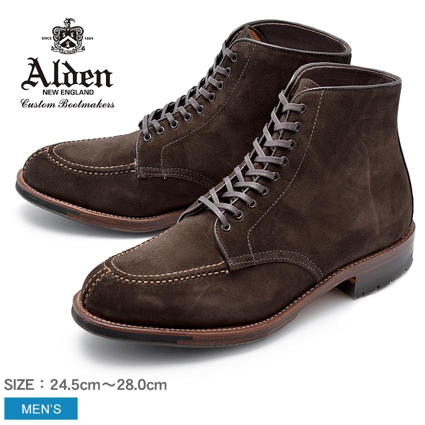 【8,181円引きCP★スーパーSALE】ALDEN オールデン ブーツ ブラウン タンカーブーツ TANKER BOOT D5912C メンズ シューズ トラディショナル ビジネス フォーマル スウェ-ド 茶色 革靴 紳士靴