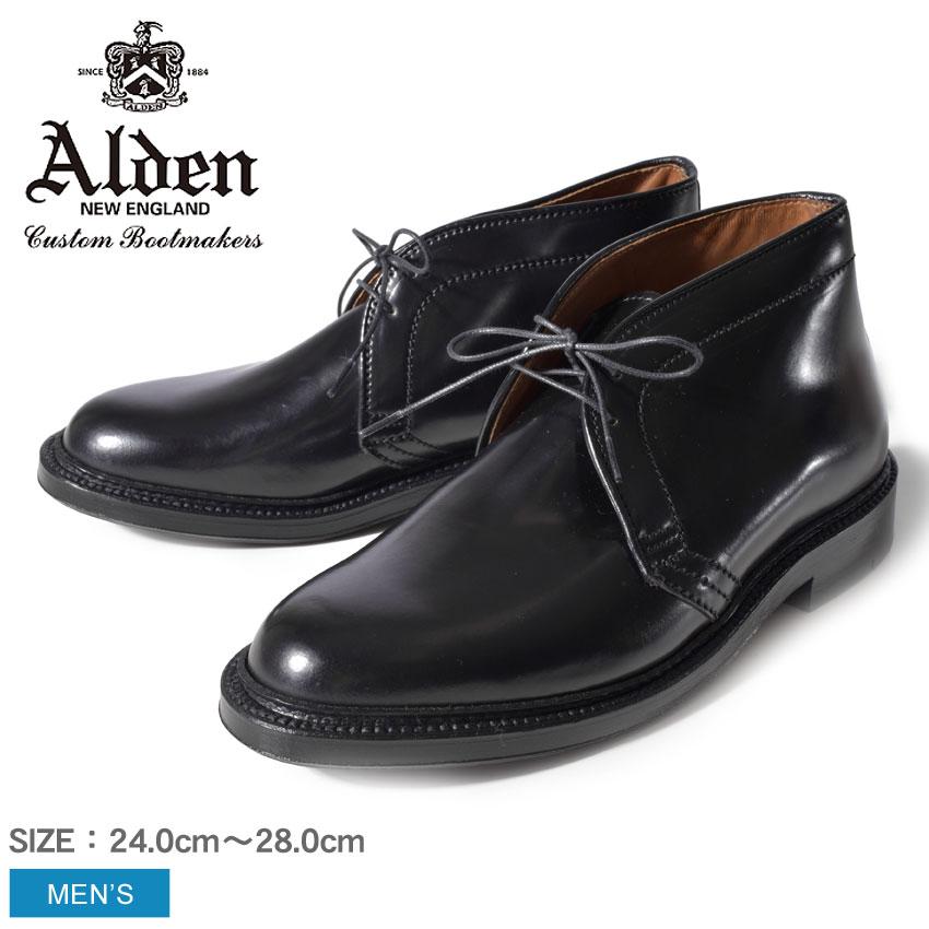 送料無料 ALDEN オールデン ブーツ ブラックチャッカ ブーツ CHUKKA BOOTS1340 メンズ