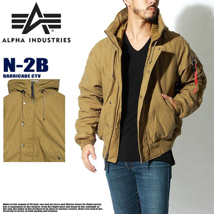送料無料 ALPHA INDUSTRIES アルファインダストリーズ ジャケット N-2B バリケード CTN オリーブドラブN-2B MJN47524C1ブルゾン ジャンバー ミリタリー メンズ