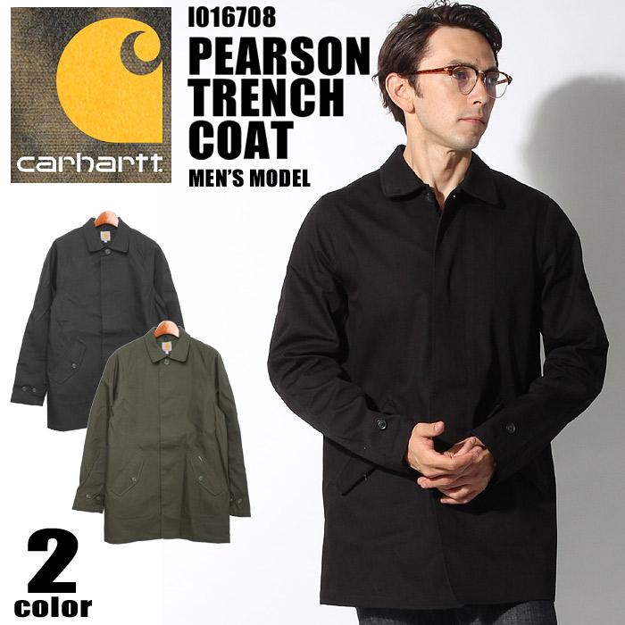 送料無料 CARHARTT カーハート コート ピアソン トレンチ コート 全2色I016708 PEARSON TRENCHCOATウェア アウター ジャケット 撥水メンズ(男性用)