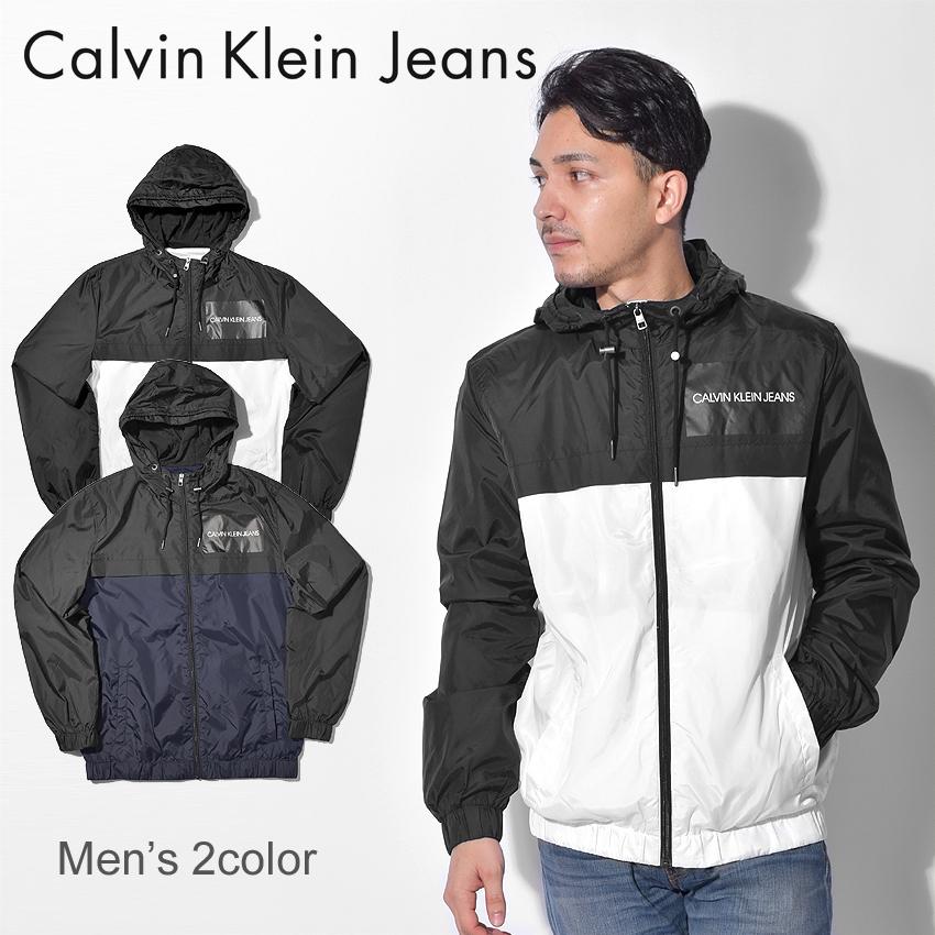 送料無料 CALVIN KLEIN JEANS カルバンクラインジーンズ アウトドアジャケット 全2色カラーブロック フーデッド カジュアルウェア アウター スポーツスタイルJ30J307781 402 112 メンズ 10eg