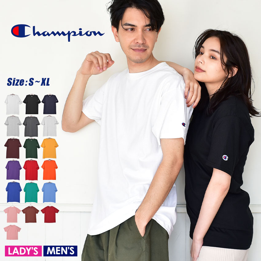 937bf96bd Size logo embroidery Shin pull short sleeves チヤンピオン which a champion T-shirt  short sleeves ...