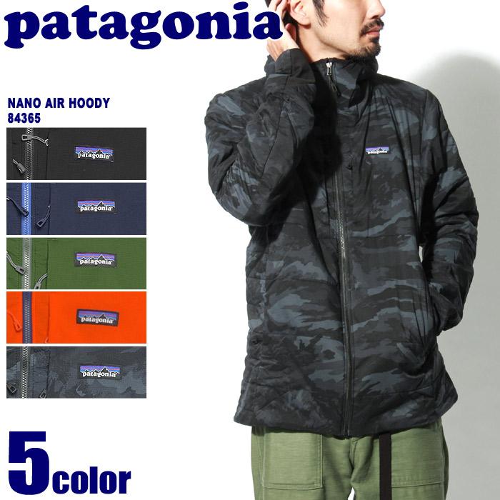 送料無料 PATAGONIA パタゴニア ジャケット ナノエア フーディ カモ×ブラック 他全5色NANO AIR HODDY 84365マウンテンパーカー ウインドブレーカー 登山 野外 フェス 黒 青 赤メンズ