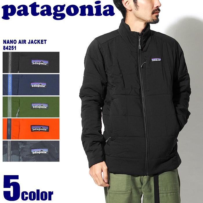 送料無料 PATAGONIA パタゴニア アウトドアジャケット ナノエア ジャケット ブラック 他全5色NANO AIR JAVKET 84251マウンテンパーカー カジュアルウェア アウター トレッキング 登山 野外 フェス 黒 青 赤メンズ