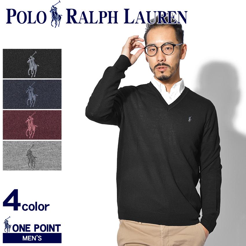【メール便可】 送料無料 POLO RALPH LAUREN ポロ ラルフローレン セーター ワンポイント Vネックセーター 710715992 001 004 006 005 メンズ