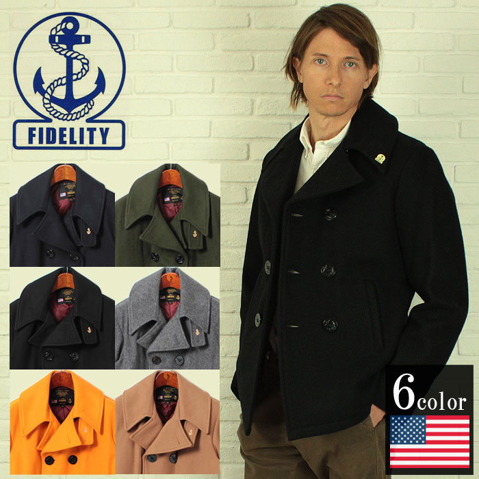 Fidelity FIDELITY P coat shawl collar all 6 colors (FIDELITY 74409R) men's military clothing (for men) [winter].