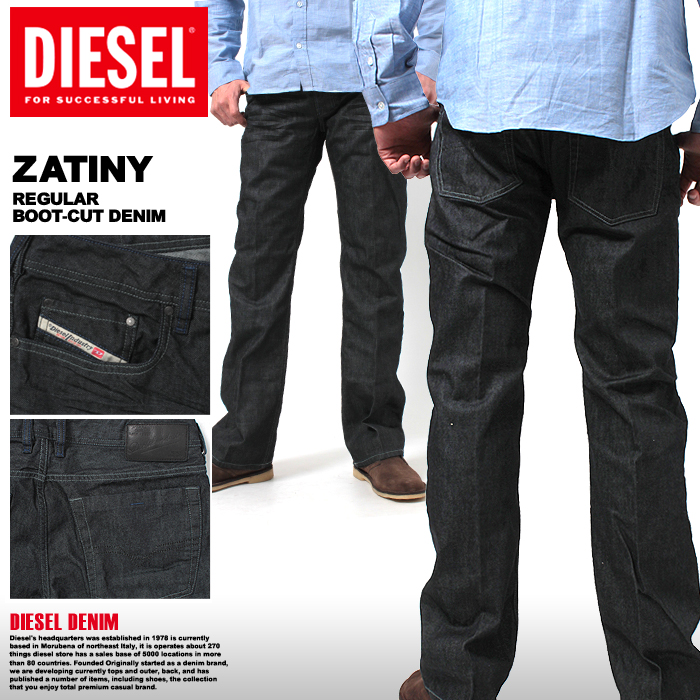 b43ced59 Men's diesel jeans DIESEL ZATINY indigo regular bootcut denim 30 length 32  length dark blue ...