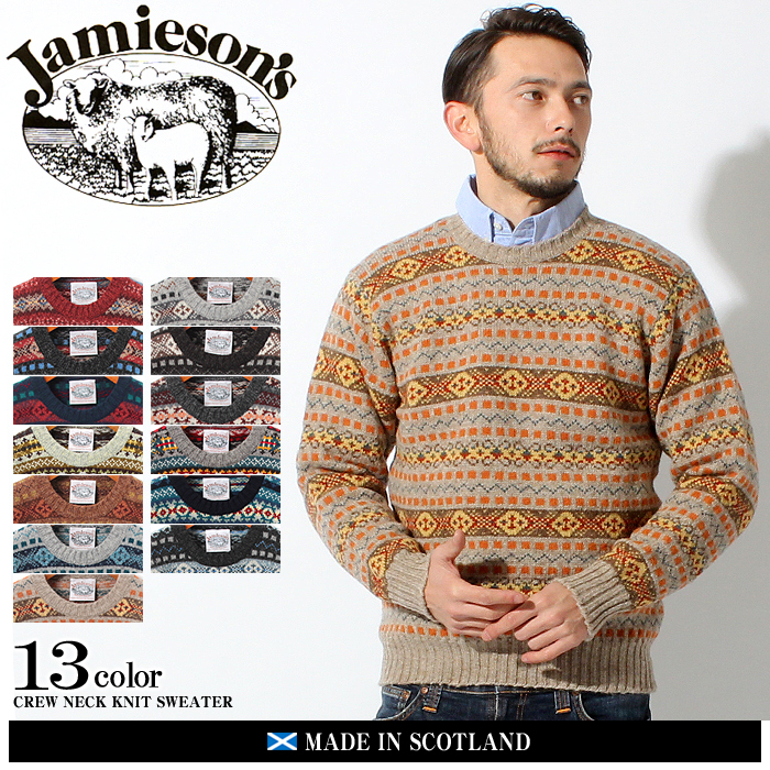 z-craft | Rakuten Global Market: JAMIESONS jamisons crewneck knit ...