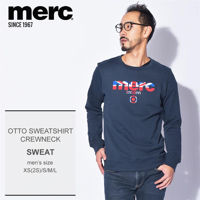 【メール便可】 送料無料 MERC メルクロンドン スウェット ネイビーオットー スウェットシャツ クルーネック OTTO SWEATSHIRT CREWNECK1814202 2 メンズ