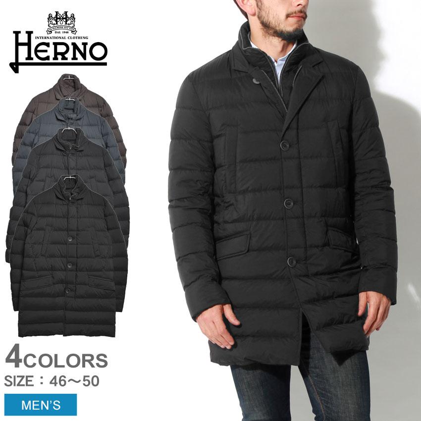 送料無料 HERNO ヘルノ ジャケット ダウン コート ブラック 他全4色DOWN JACKET PI0374U-19288 8993 9225 9200 9300アウター トップス ウェア ジップアップ ボタン 黒メンズ