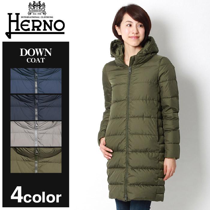 送料無料 HERNO ヘルノ ジャケット ダウン コート カーキ 他全4色DOWN JACKET PI0662D-12004 9260 9200 2900 7301アウター トップス ジップアップ 黒 青レディース