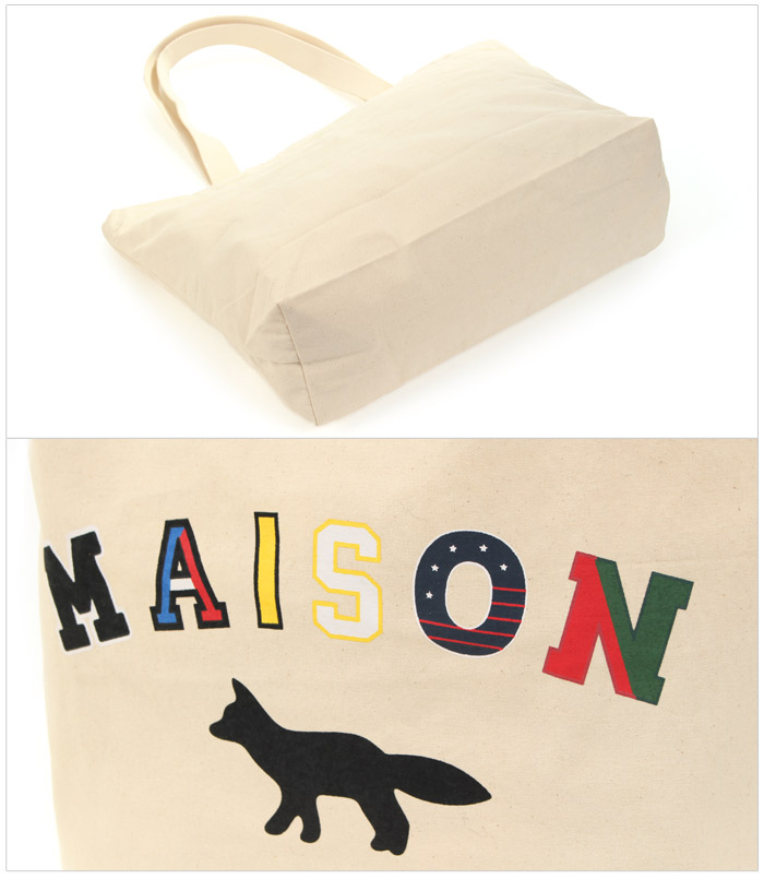 1af6838d2 All two colors of maison fox MAISON KITSUNE EC tote bag MK college FW17U814  FW17U815 EC TOTE BAG MK COLLEGEECRU men gap Dis bag Thoth brands casual ...