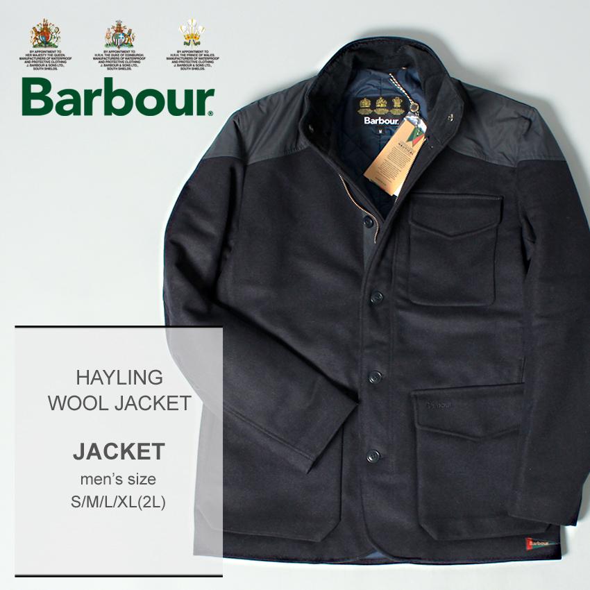 送料無料 BARBOUR バーブァー ネイビー ヘイリングウールジャケット HAYLING WOOL JACKET MWO0247 NY71 メンズ