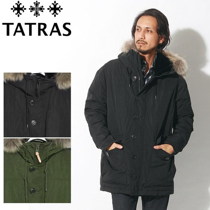 送料無料 TATRAS タトラス ジャケット イペリコ ファージャケット ブラック 他全2色IPERICO MTK18A472アウター シンプル フード付き ファー 黒メンズ